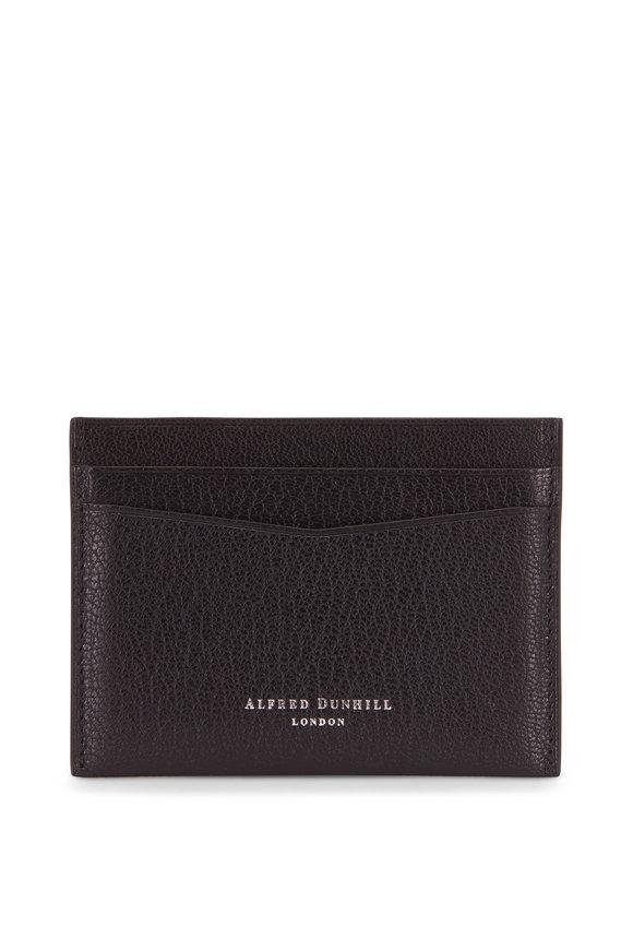 Dunhill Duke Black Fine Grained Leather Card Case