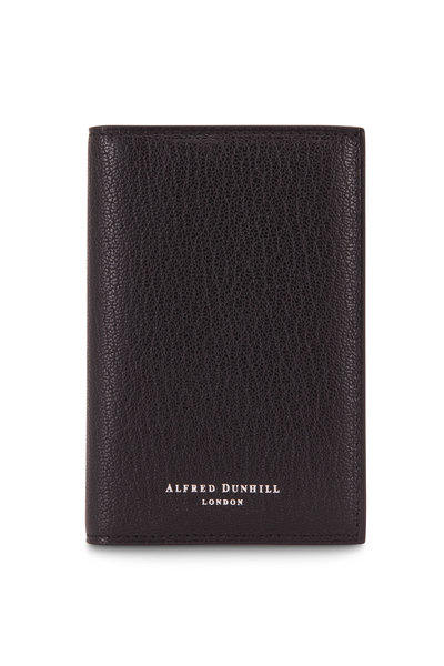 Dunhill - Duke Black Grained Leather Card Case