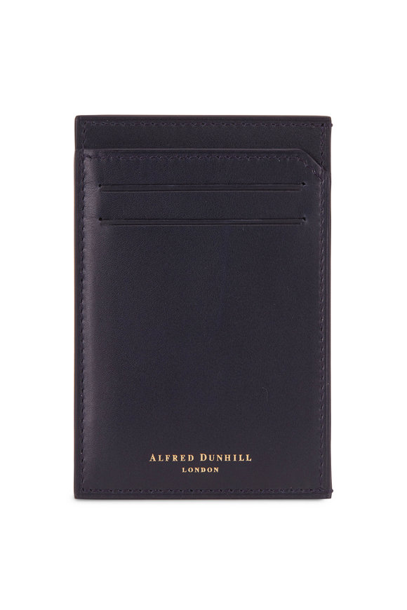 Dunhill Duke Ink Blue Leather Card Case