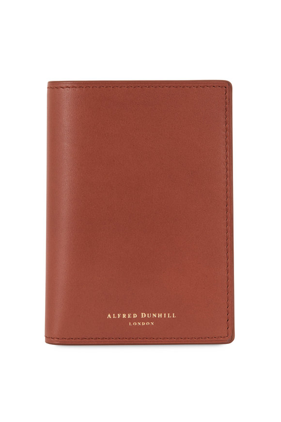 Dunhill Duke Tan Leather Business Card Case
