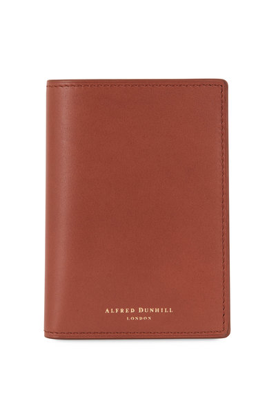 Dunhill - Duke Tan Leather Business Card Case