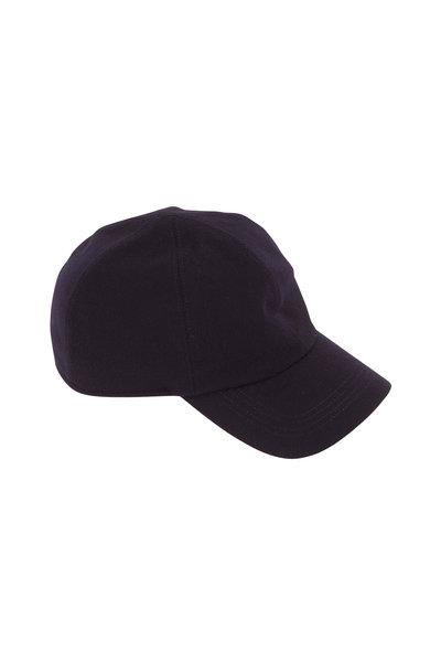 Wigens - Navy Blue Wool Ear Flaps Storm Baseball Cap