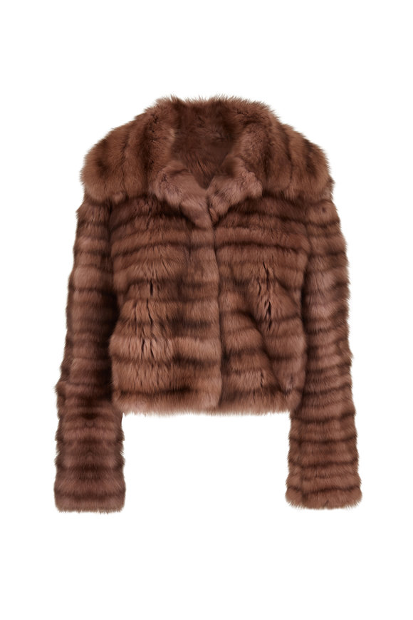 Oscar de la Renta Furs Antique Rose Dyed Sable Coat