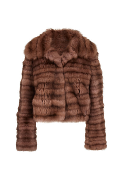 Oscar de la Renta Furs - Antique Rose Dyed Sable Coat