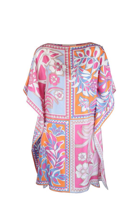 Pucci Fuchsia Floral Print Silk Kaftan Dress