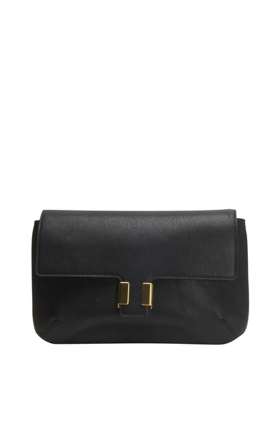 Chloé - Amelia Black Leather Flap Clutch