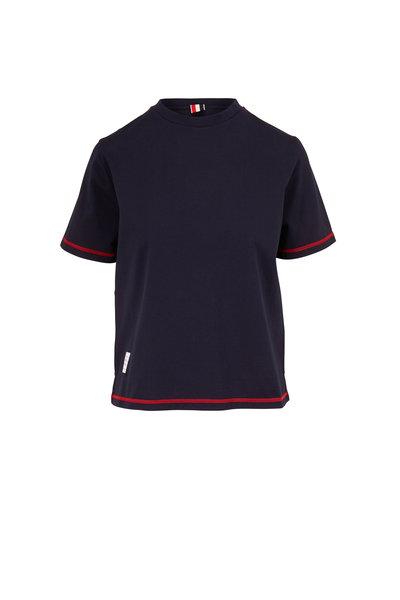 Thom Browne - Navy Blue Cotton Jersey T-Shirt