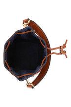 Fendi - Mon Tresor FF Embossed Denim Mini Bucket Bag