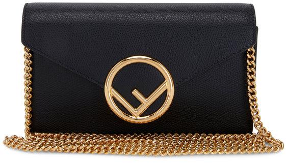 Fendi Black Leather Small Belt or Crossbody Bag