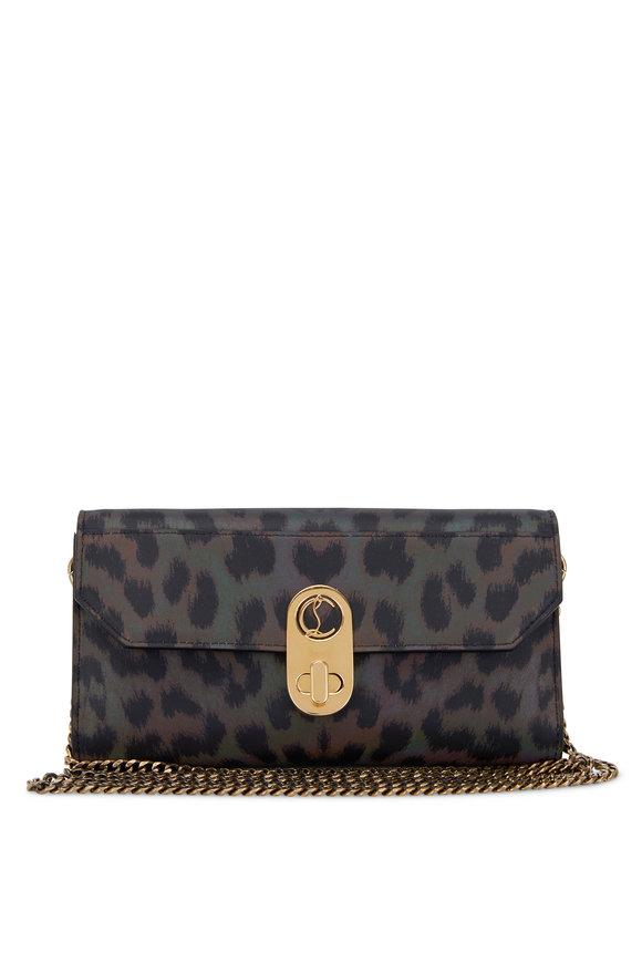 Christian Louboutin Elisa Multicolor & Black Leather & Nylon Belt Bag