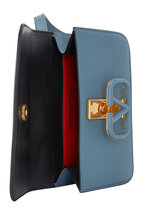 Valentino Garavani - VSling Blue Grained Leather Belt Bag