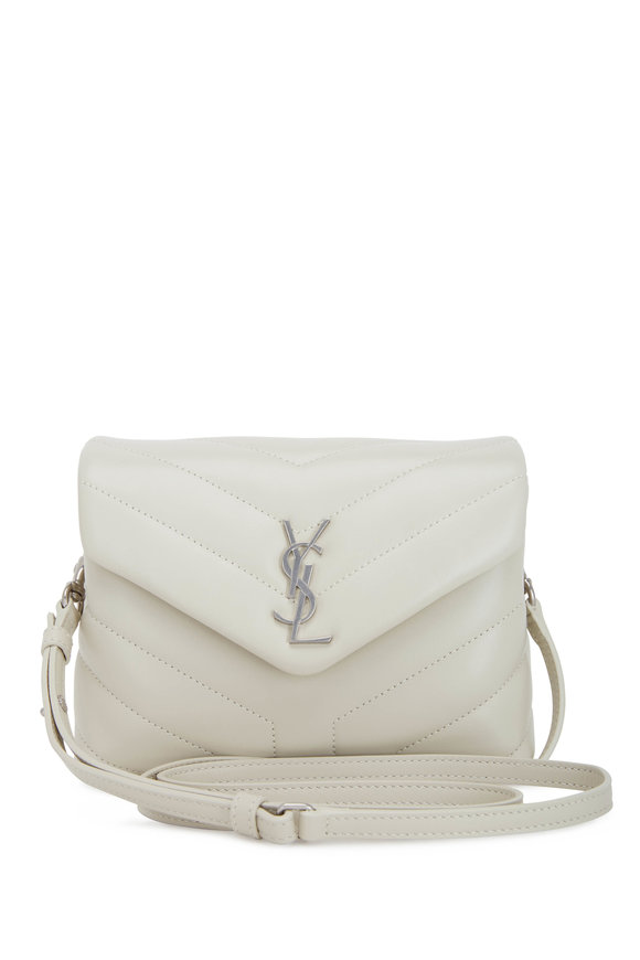 Saint Laurent Lou Lou Toy Cream Quilted Leather Crossbody