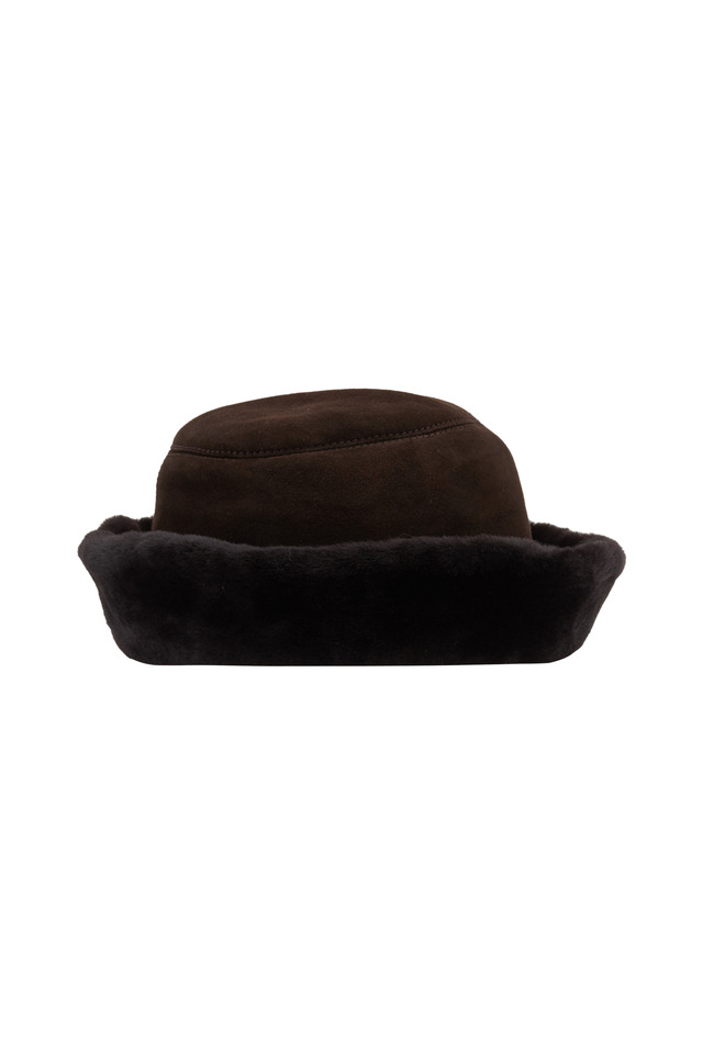 Brown Shearling Hat