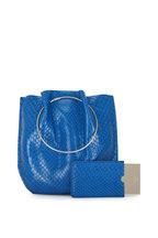 The Row - Cobalt Blue Python Flat Micro Circle Handle