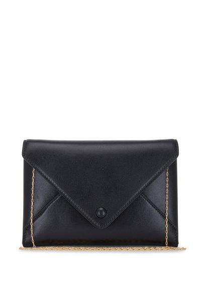 The Row - Black Leather Envelope Crossbody Bag