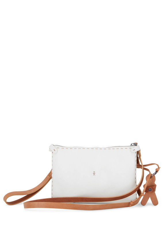 Henry Beguelin Sara White Cervo Leather Small Bag
