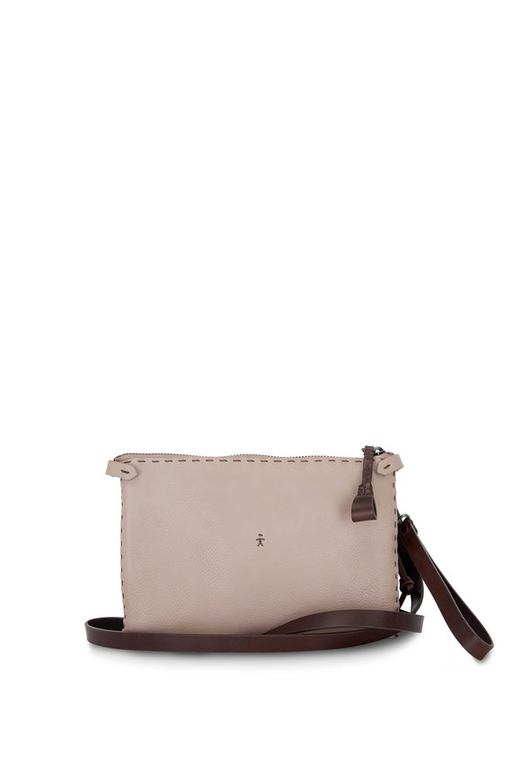 Henry Beguelin Sara Mauve Cervo Leather Crossbody Bag