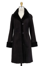 Viktoria Stass - Black Shearling Coat
