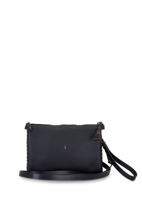 Henry Beguelin Sara Black Cervo Leather Small Bag