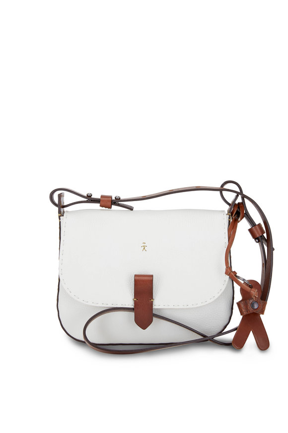 Henry Beguelin Tascapaue White & Cuoio Cervo Small Crossbody