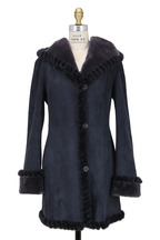 Viktoria Stass - Winter Mist Shearling & Mink Fur Hooded Coat