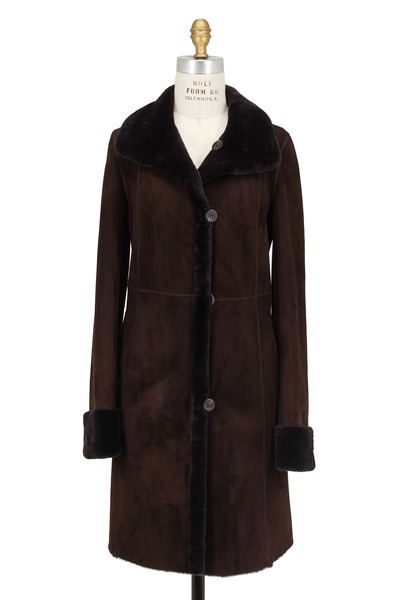 Viktoria Stass - Ebony Brown Shearling Coat