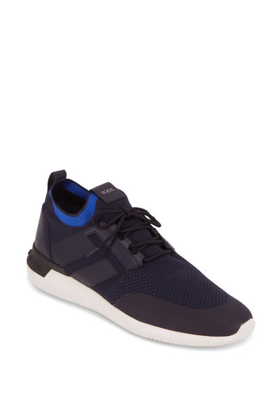 Tod's - No Code Navy Blue High Tech Sneaker