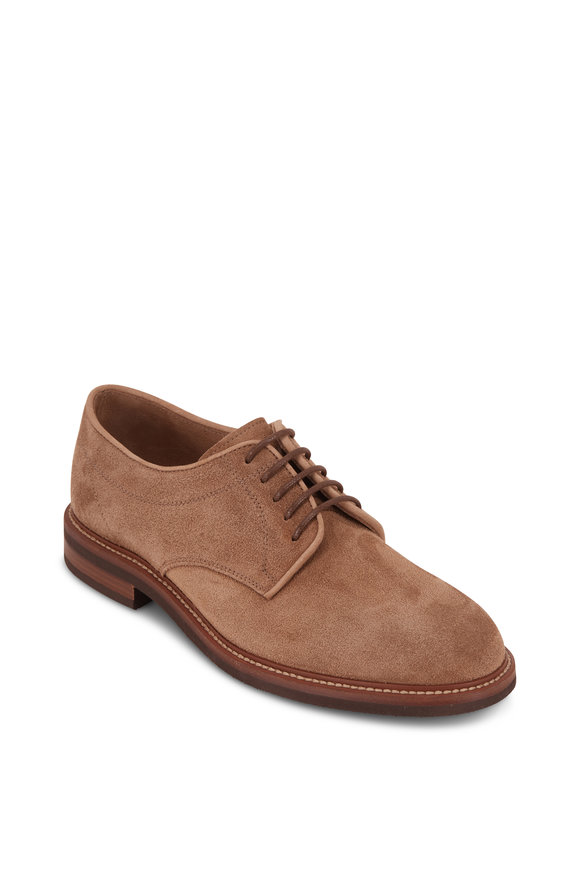 Brunello Cucinelli Dark Beige Suede Buck Shoe