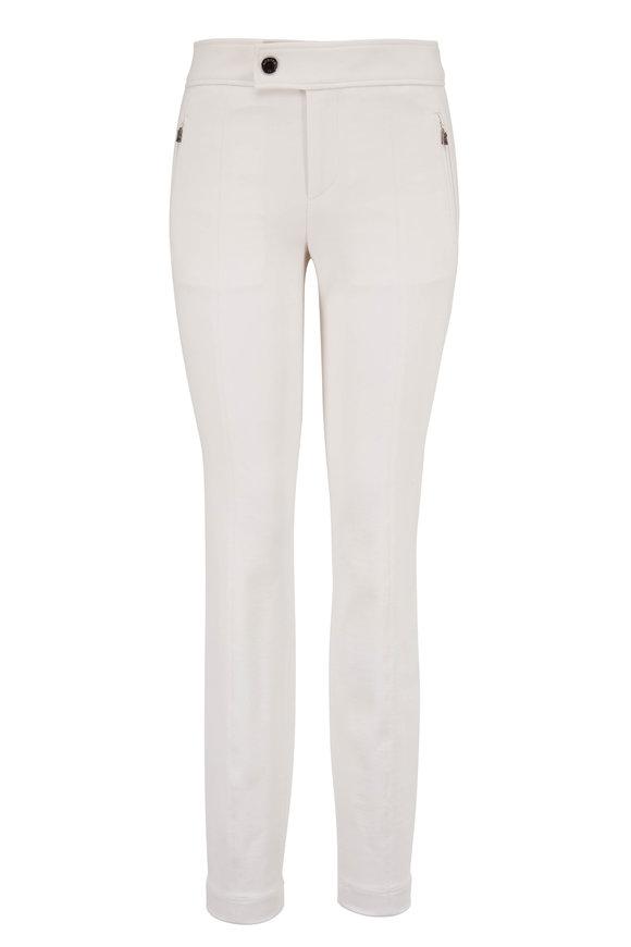 Bogner Linea Cream Jersey Zip Pocket Pant