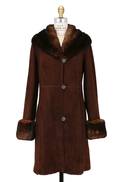 Viktoria Stass - Mocha Fur & Shearling Coat