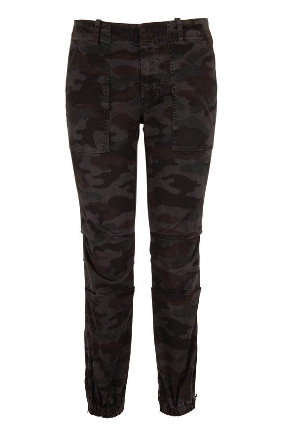 Nili Lotan Grey Camo French Military Pant