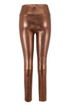 SPRWMN LLC - Bronze Leather High-Rise Ankle Legging
