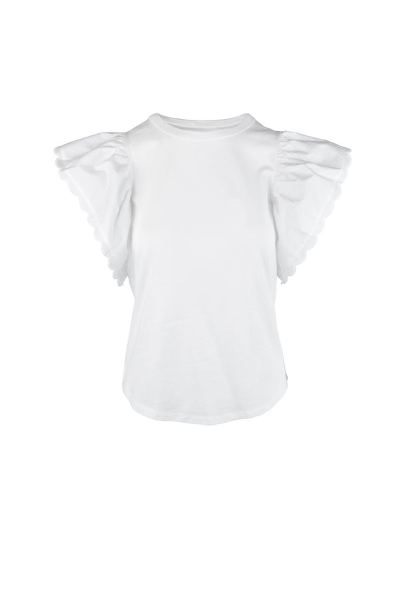 See by Chloé White Powder Butterfly Sleeve T-Shirt