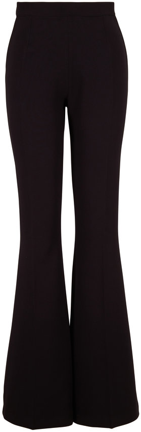 Safiyaa Halluana Black Couture Crepe Side-Zip Pant