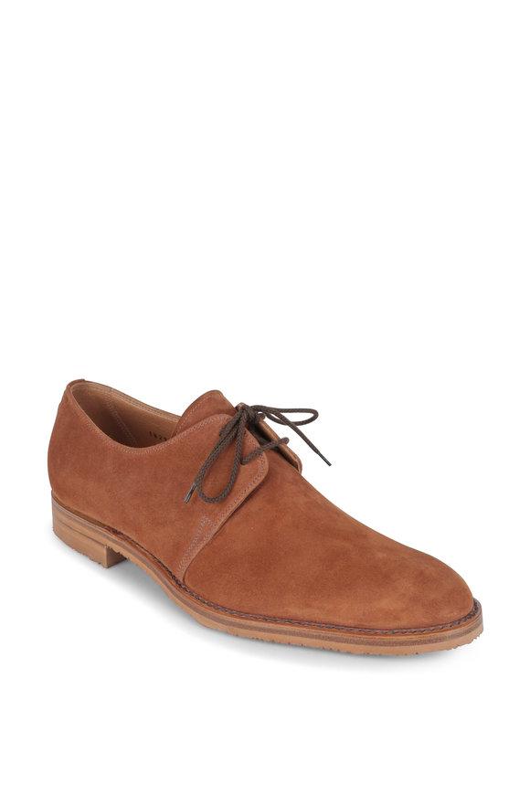 Gravati Cognac Suede Derby Dress Shoe
