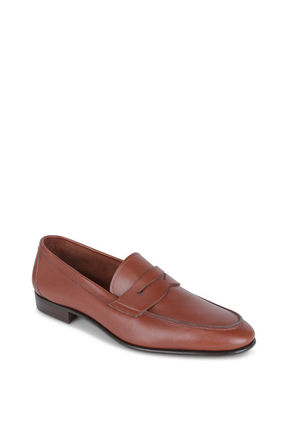 Gravati Brandy Leather Penny Loafer