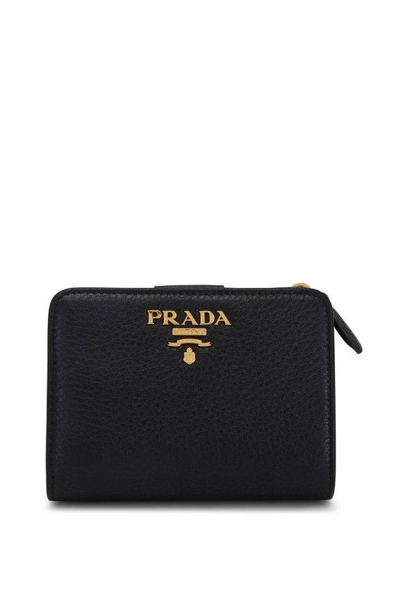 Prada Black & Red Leather Wallet