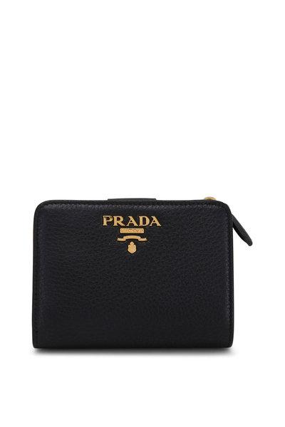 Prada - Black & Red Leather Wallet