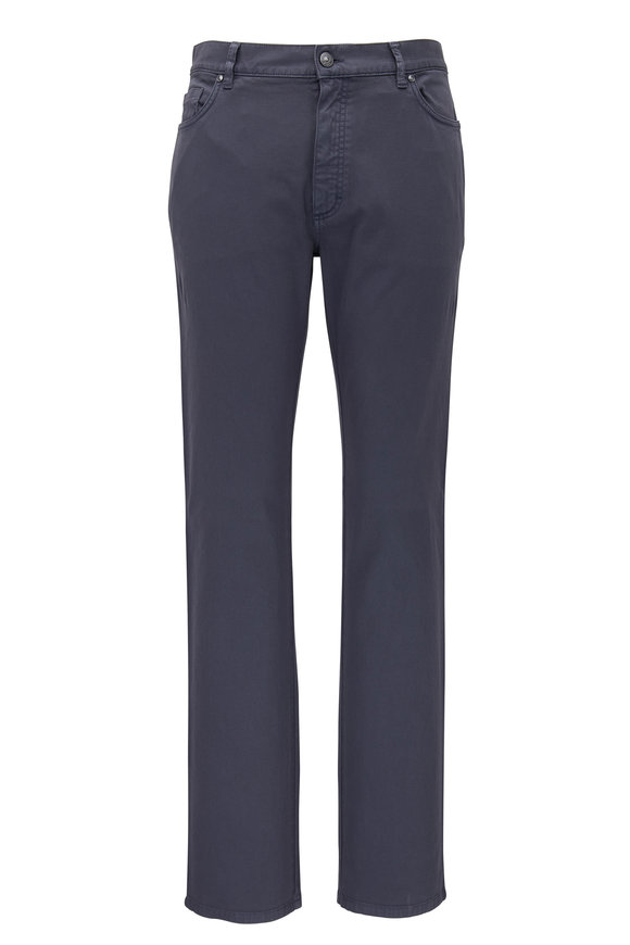 Ermenegildo Zegna Grey Canvas Five Pocket Pant