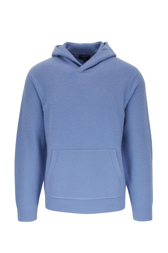 Vince Infinity Blue Boiled Cashmere Hoodie