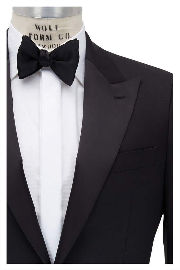Atelier Munro Black Stretch Wool Tuxedo