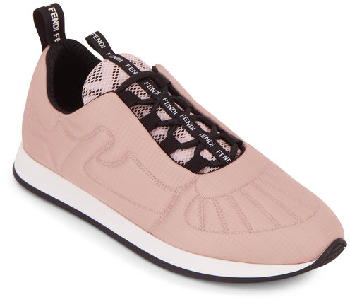 Fendi FFreedom Pink Satin Quilted Sneaker
