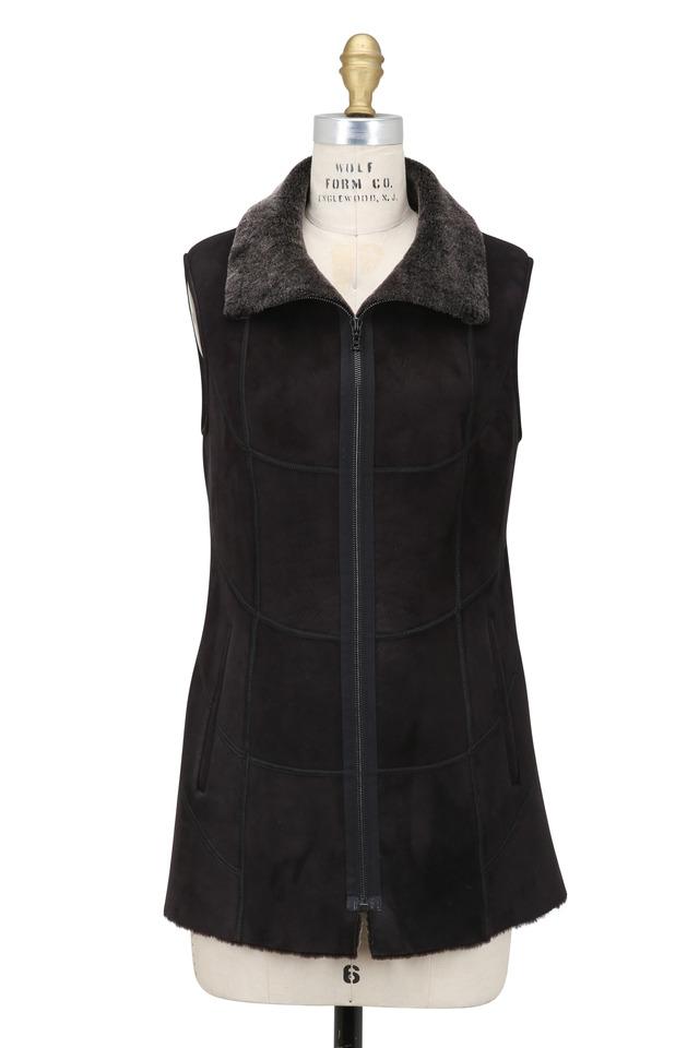 Black Brisa Shearling Vest