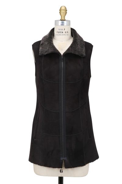 Viktoria Stass - Black Brisa Shearling Vest