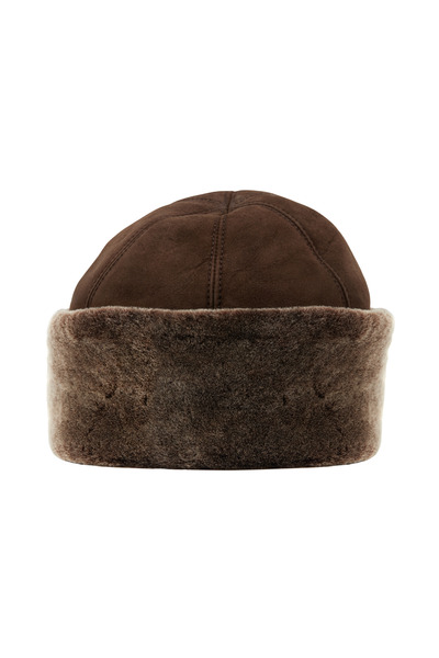 Viktoria Stass - Brown Shearling & Brisa Wool Hat