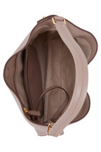 Tom Ford - Alix Taupe Grained Leather Small Hobo Bag