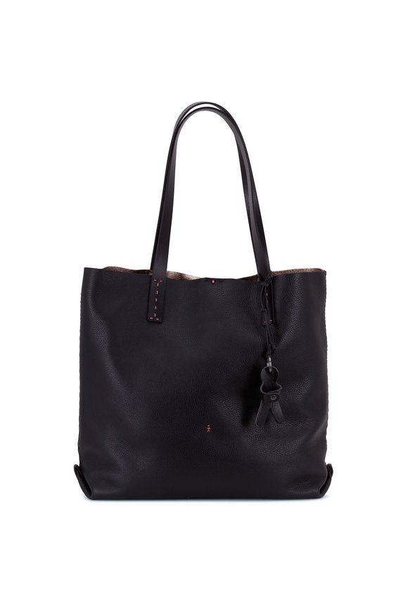 Henry Beguelin Isa Black Cervo Large Shopping Tote