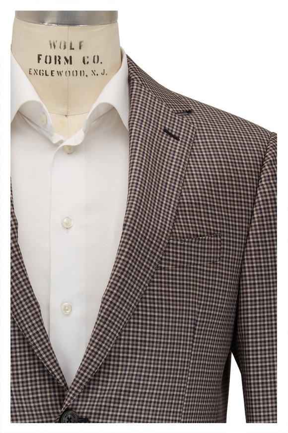 Maurizio Baldassari Brown & Tan Check Wool Sportcoat