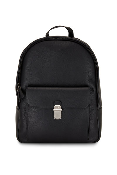 Dunhill - Belgrave Black Grained Leather Backpack