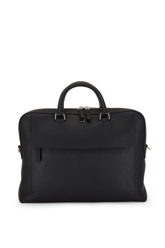 Dunhill Belgrave Leather Single Document Briefcase